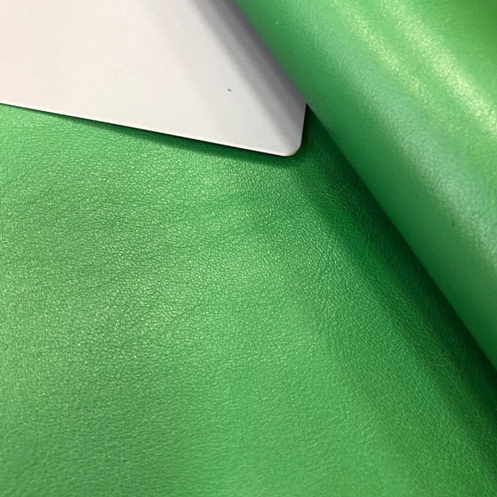 КРС гладкий, 1.1-1.3 мм, NAPPACOLORS, цвет Green Ray, MASTROTTO, Италия
