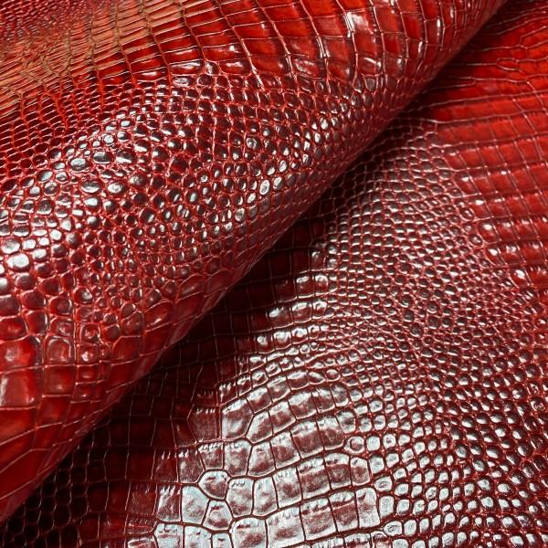 Кожа РД с тиснением, 1.4-1.6 мм, цвет Rosso Ferrari, Cocco Himalaya, ARTIGIANO DEL CUOIO, Италия