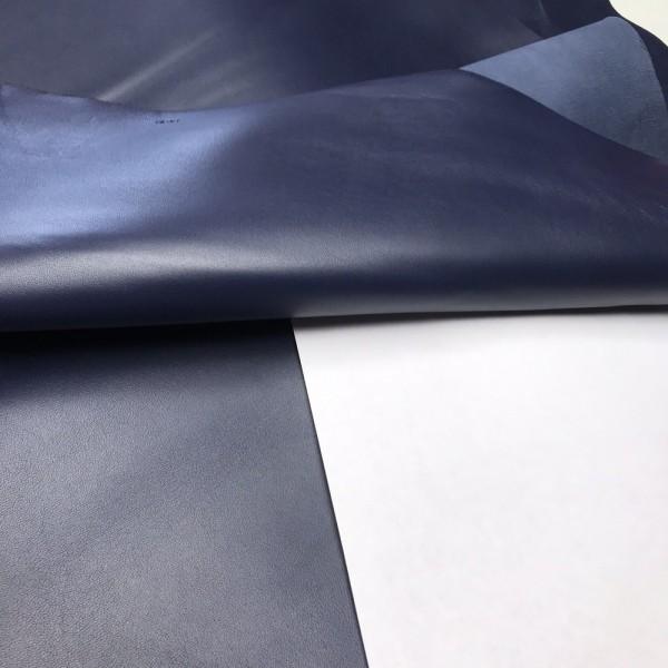 Кожа ягненка для GUCCI, цвет тёмно-синий, 0.8-1.0 мм, Италия