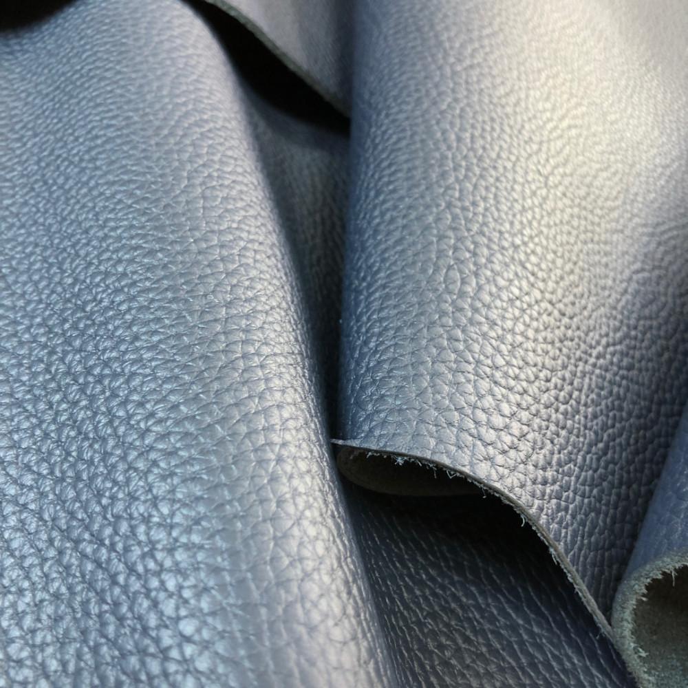Кожа КРС флотер, 2.0-2.2 мм, цвет синий, Италия