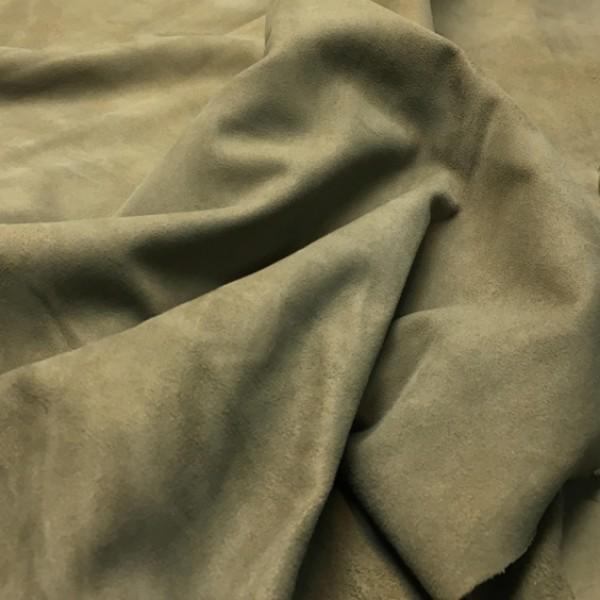 Кожа велюр, оливковый, 0,5 мм, ИТАЛИЯ