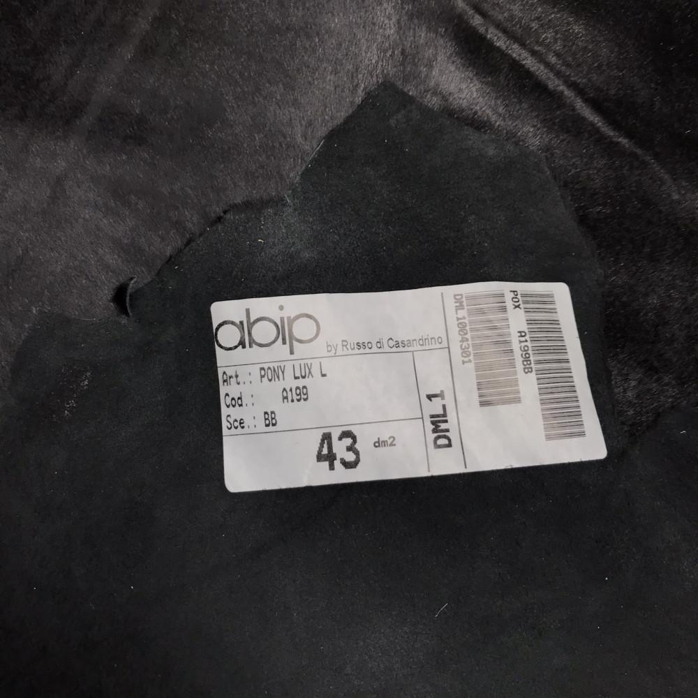 Кожа ПОНИ, 0.5-0.7 мм, цвет 199 чёрный, Италия
