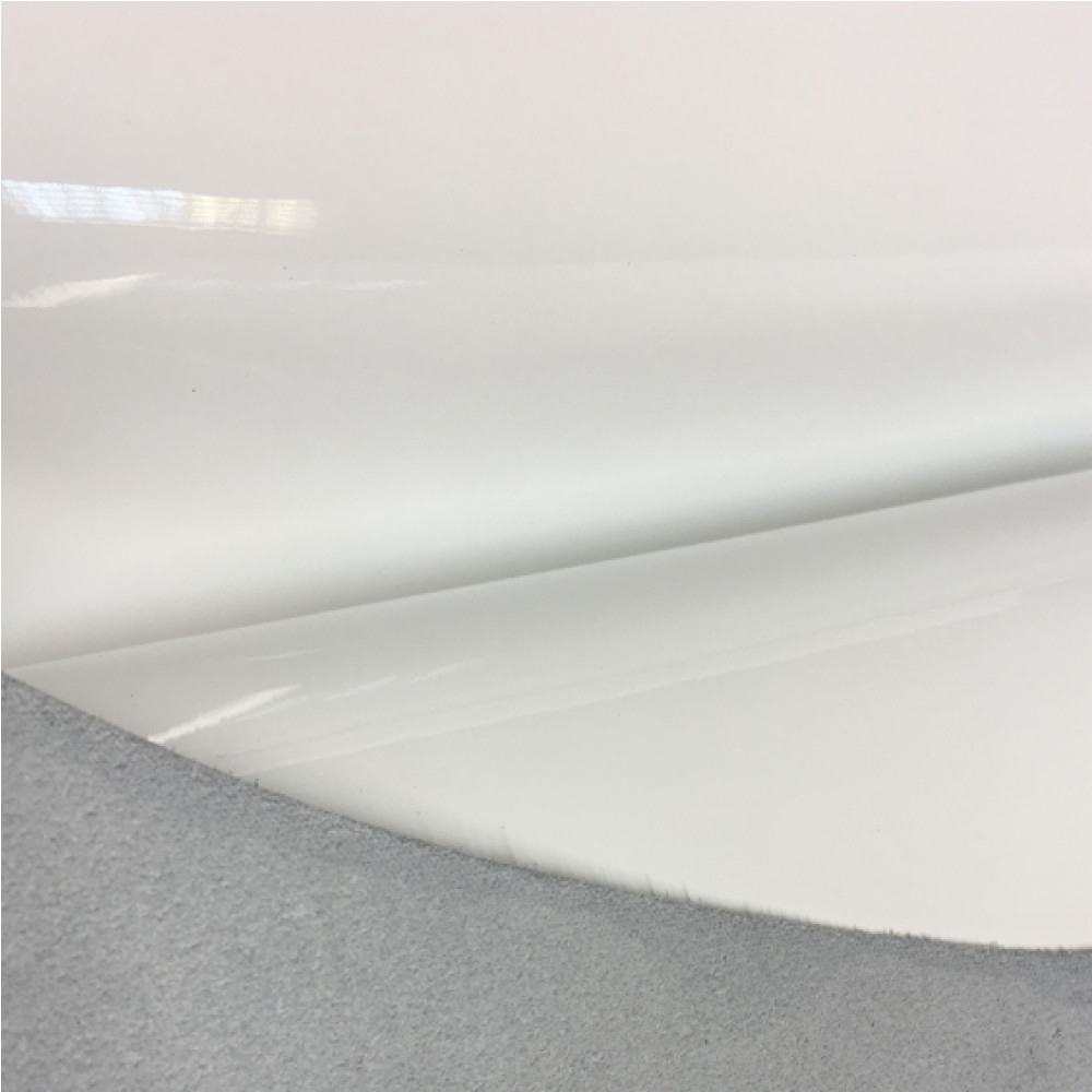 Кожа телёнка лаковая, 0.8-1.0 мм, белый, Италия