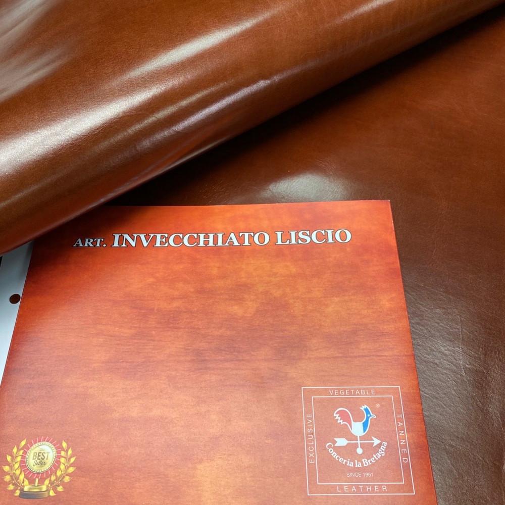 Кожа РД, 1.5 мм, цвет Acacia, INVECCHIATO LISCIO, LA BRETAGNA, Италия