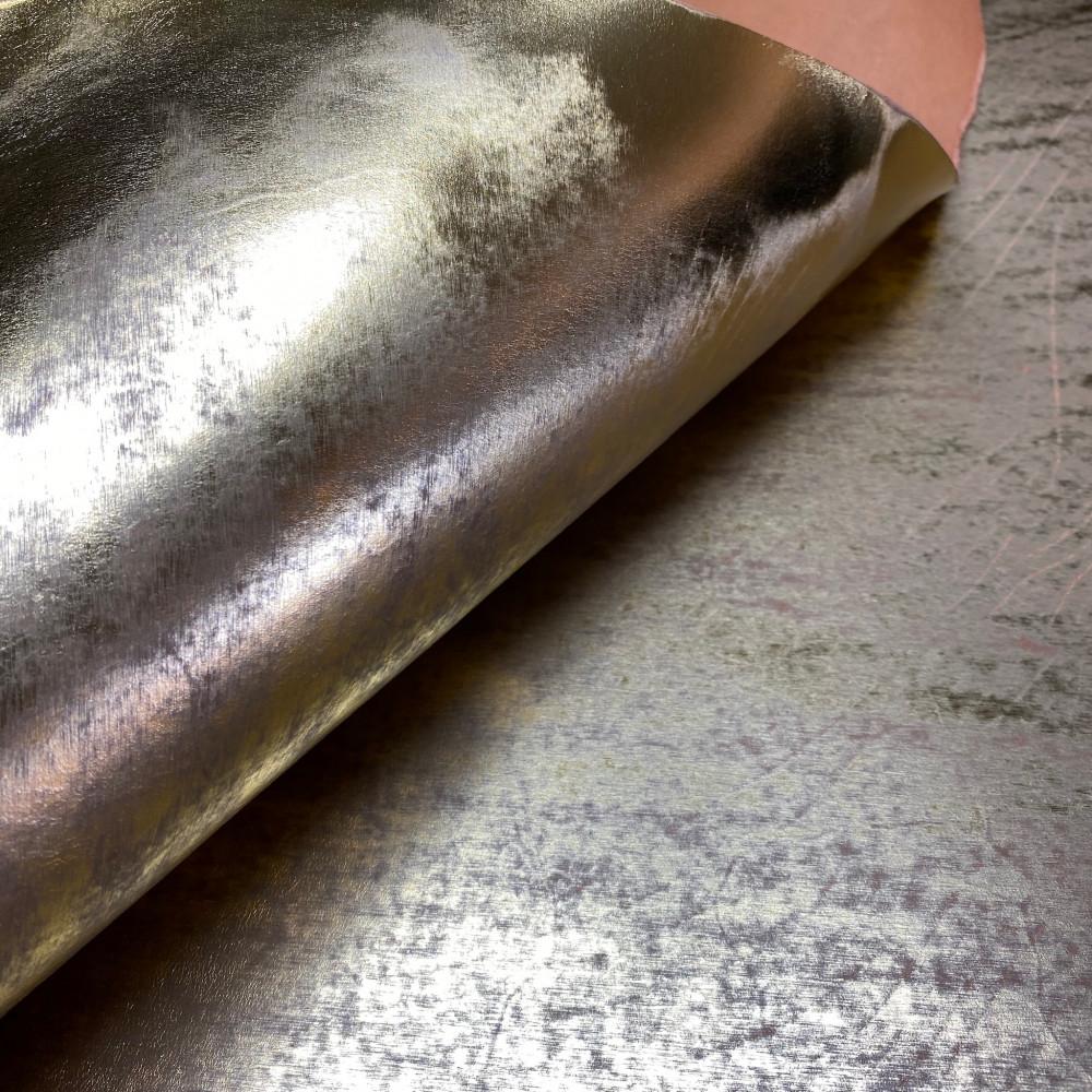 Кожа РД, 2.8 мм, цвет Oro 106, ECOMURALES, LA BRETAGNA, Италия