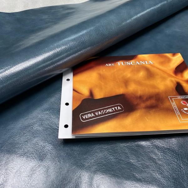 Кожа РД, 1.2-1.4 мм, цвет Piombo, TUSCANY, LA BRETAGNA, Италия