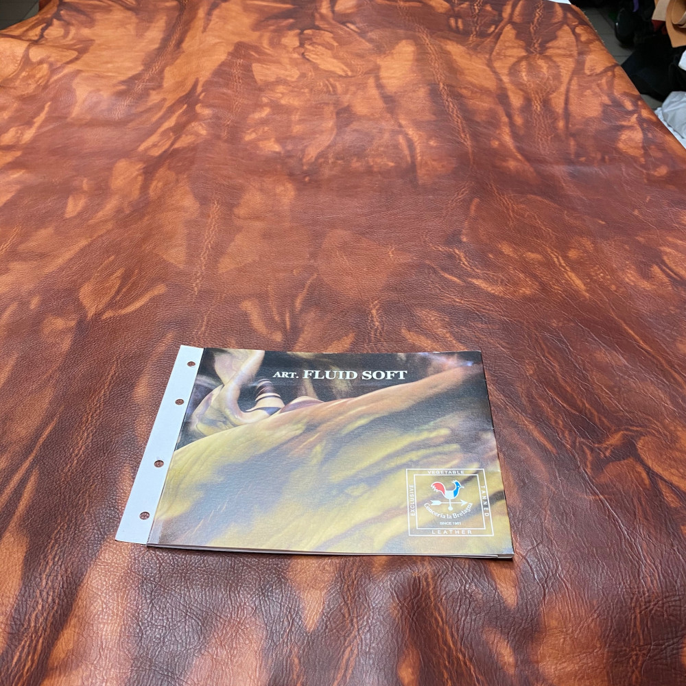 Кожа РД, 1.2-1.4 мм, цвет T.Moro, FLUID SOFT, LA BRETAGNA, Италия