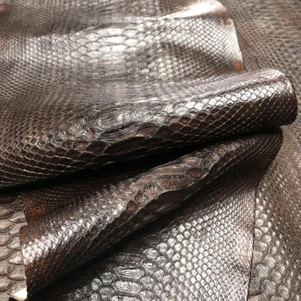 Питон натуральный, тёмно-коричневый, Италия